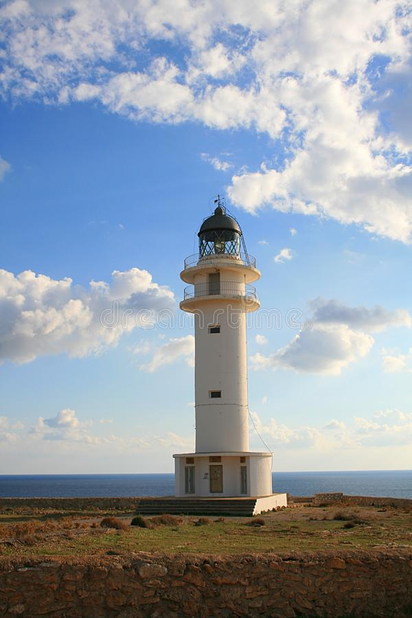 Lighthouse. In Formentera Spain Cap de Barbaria royalty free stock images