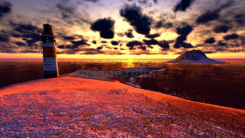 Download Lighthouse stock illustration. Image of island, coastline - 23547720
