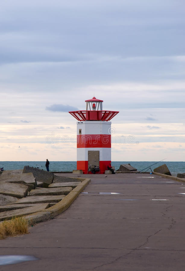 Download Lighthouse stock photo. Image of stripes, peaceful, harbour - 27129772