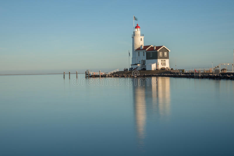 Lighthouse. In Marken.Holland royalty free stock photo