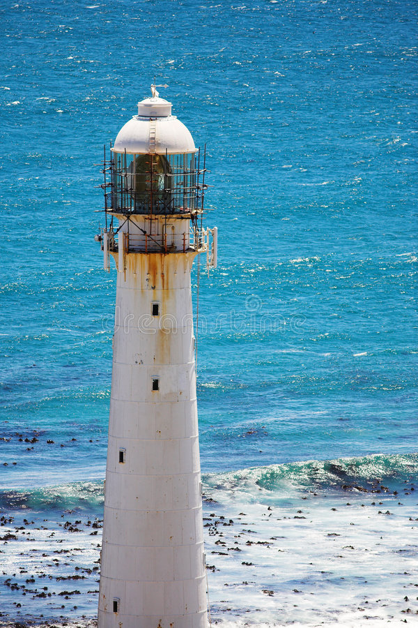 Lighthouse #3. The Slangkop Lighthouse at Kommetjie, Western Cape. The Tallest Lighthouse in South Africa stock photo