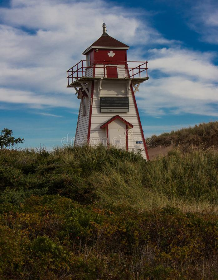 Lighthouse Along the Coast of Prince Edward Island royalty free stock photography