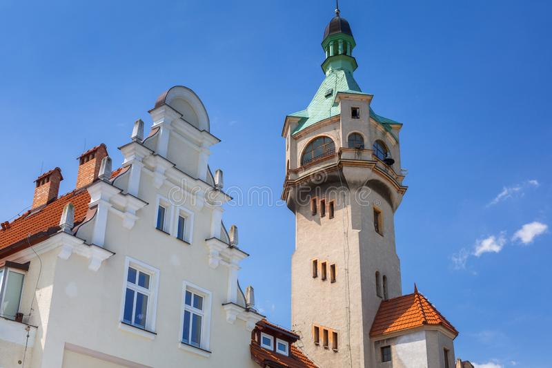 Lighthouse by the Baltic Sea in Sopot, Poland. Summer, architecture, tower, square, blue, sky, holiday, vacation, city, travel, landscape, tourism, leisure royalty free stock photos