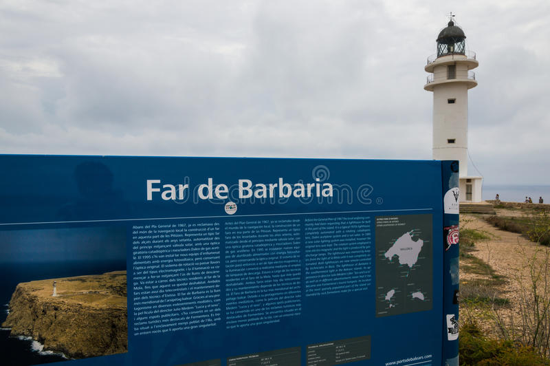 Lighthouse of Barbaria royalty free stock photography