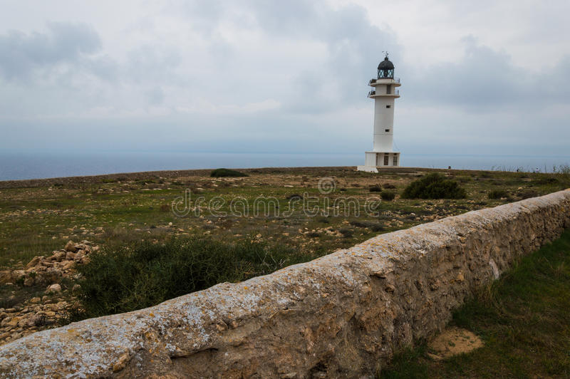 Lighthouse of Barbaria. The lighthouse of Barbaria at Formetera island stock photography