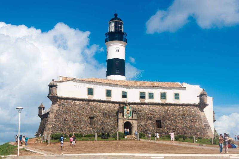 Lighthouse of `Barra`, Salvador royalty free stock photography