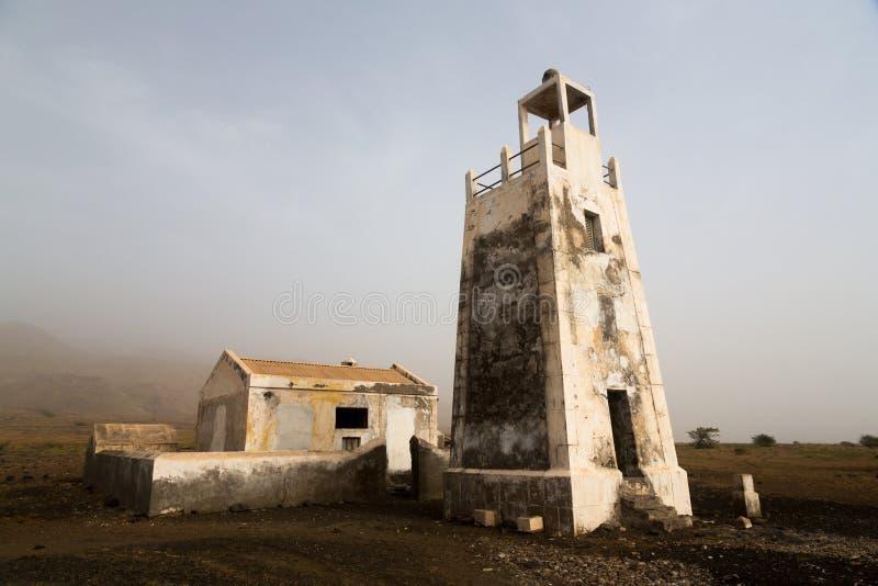 Lighthouse Barril, Cape Verde. Lighthouse Barril, 1928, island Sao Nicolau, Cape Verde stock photography