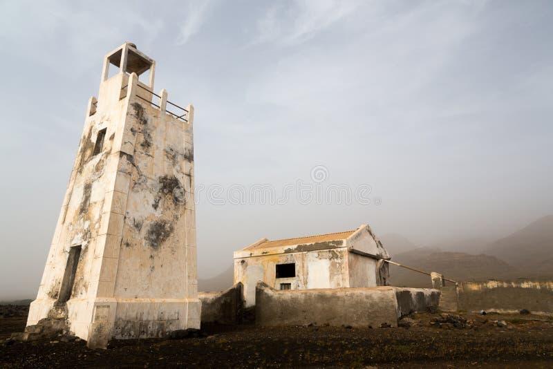 Lighthouse Barril, Cape Verde. Lighthouse Barril, 1928, island Sao Nicolau, Cape Verde royalty free stock photos