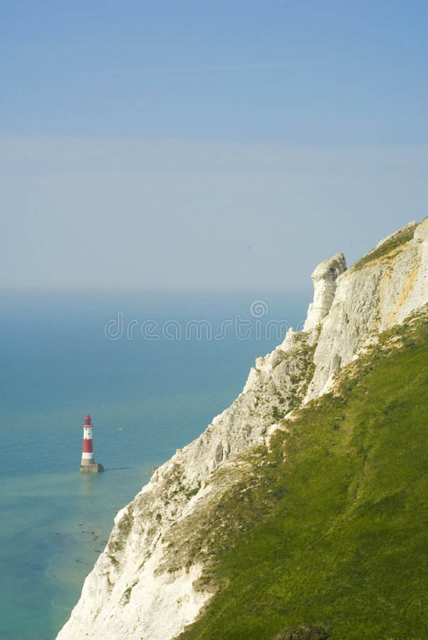 Download Lighthouse Beachy Head stock photo. Image of seaside, rocks - 5590290