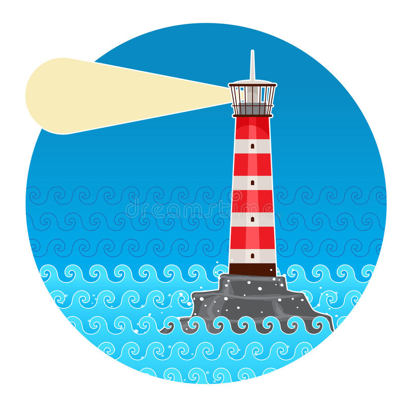Download Lighthouse stock vector. Image of landmark, beacon, architecture - 32218015