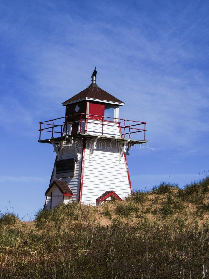 Lighthouse and blue sky royalty free stock photography