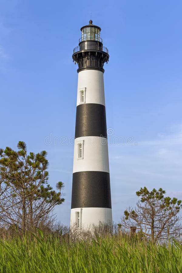 The Lighthouse at Bodie Island royalty free stock photography