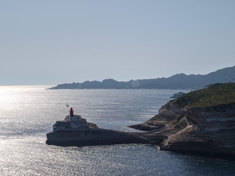 Lighthouse of Bonifacio royalty free stock images