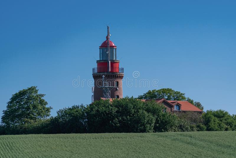 Lighthouse Buk in Bastorf at the german Baltic sea coast royalty free stock photography