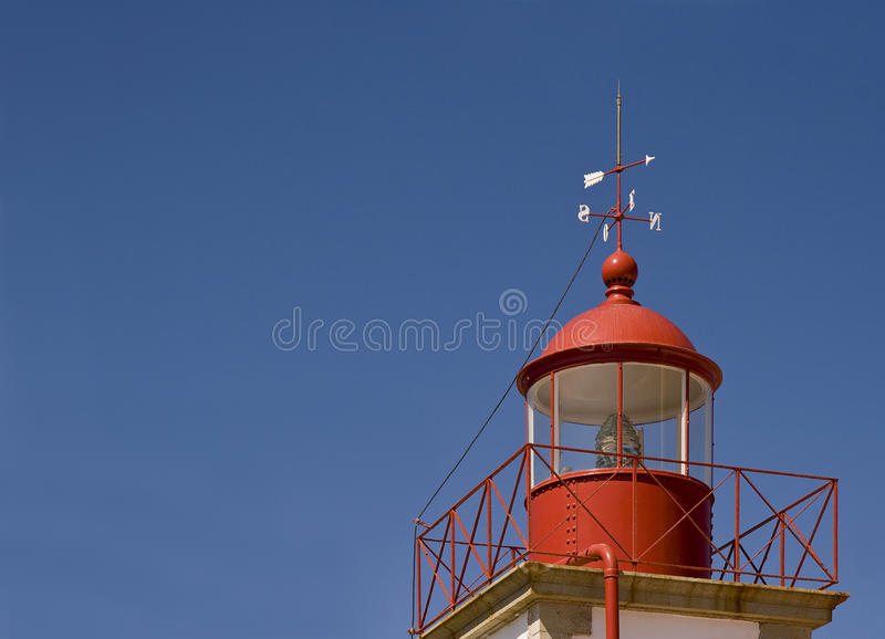 Lighthouse at Cabo Carvoeiro, Algarve, Portugal royalty free stock image