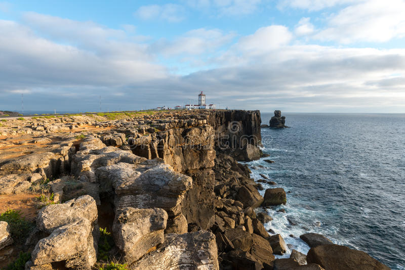 Lighthouse of Cabo Carvoeiro (Portugal) stock photos