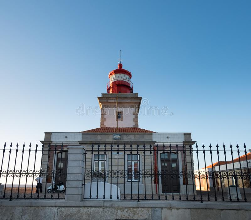 Lighthouse at Cabo da Roca (Cape Roca. ) - cape which forms the westernmost extent of mainland Portugal royalty free stock images