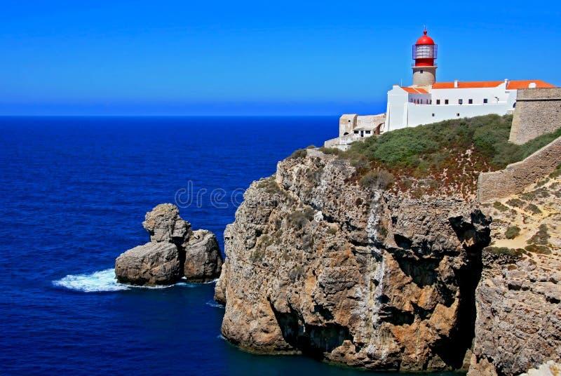 Lighthouse Cabo de Sao Vicente fotos de archivo