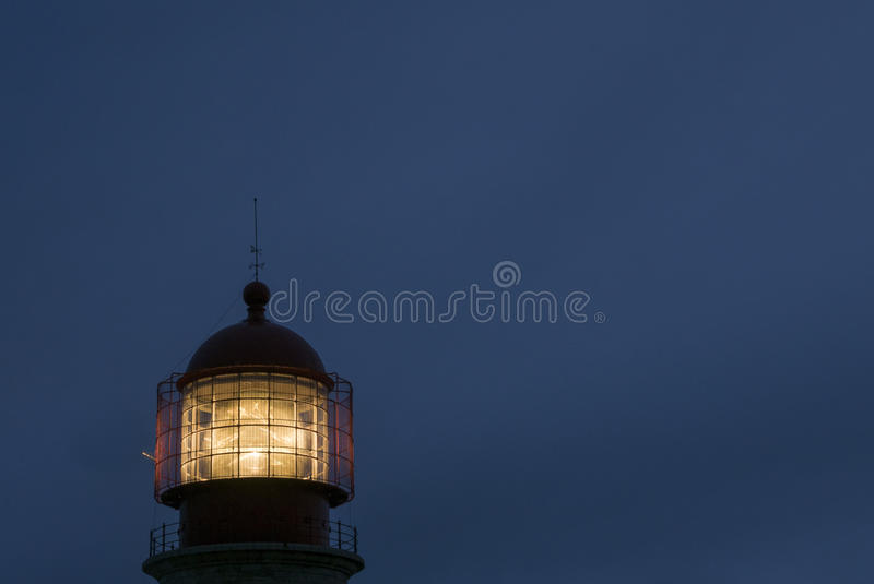Lighthouse of Cabo Sao Vicente, Sagres, Portugal at sunset. Farol do Cabo Sao Vicente. Portugal stock photography