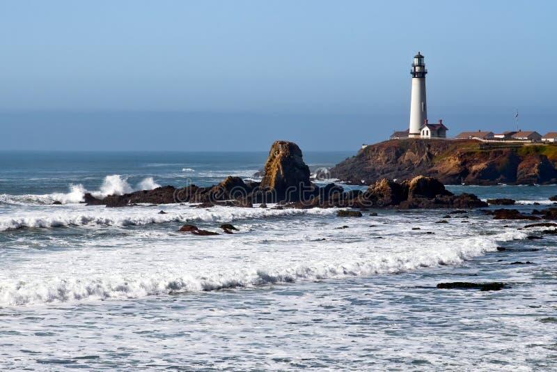 Lighthouse on the California Coast 2 stock photo