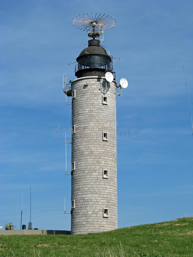 Lighthouse of Cap-Blanc Nez (France) stock photography