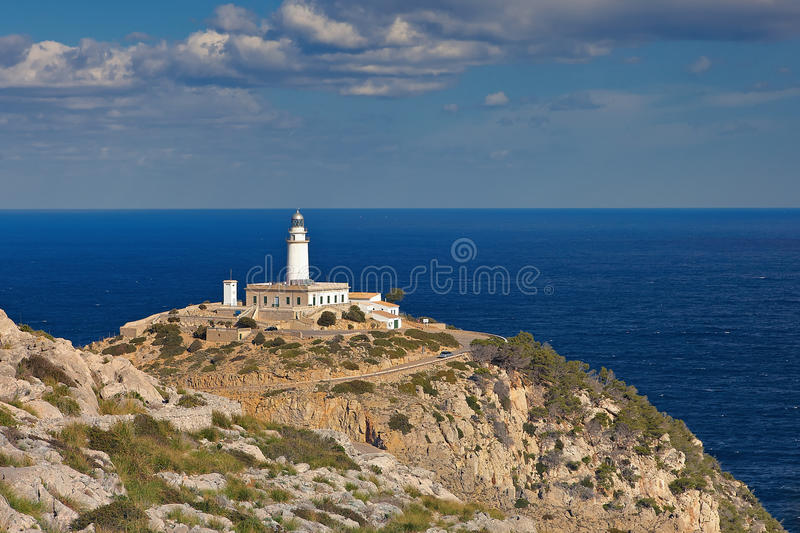 Download Lighthouse Cap Formentor stock photo. Image of mountain - 23443926