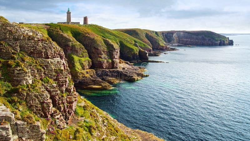 Download Lighthouse On Cap Frehel. Brittany, France Stock Image - Image: 26516105