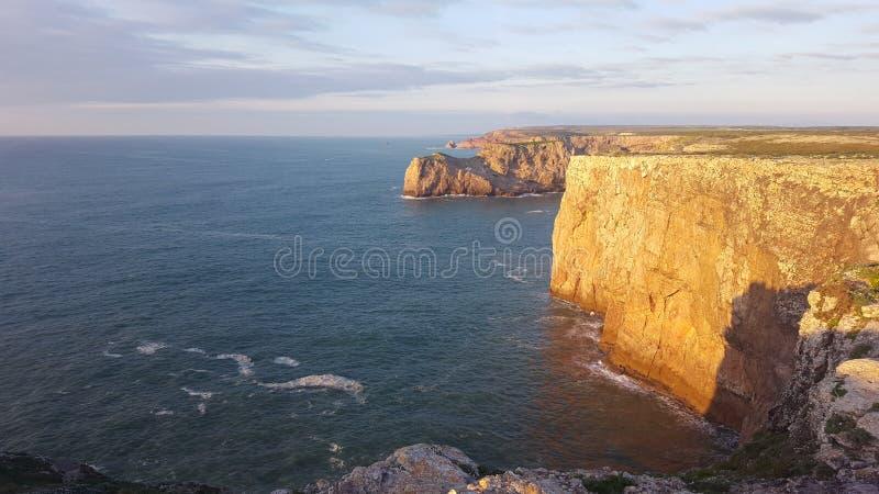 Lighthouse Cap Saint Vincent royalty free stock image