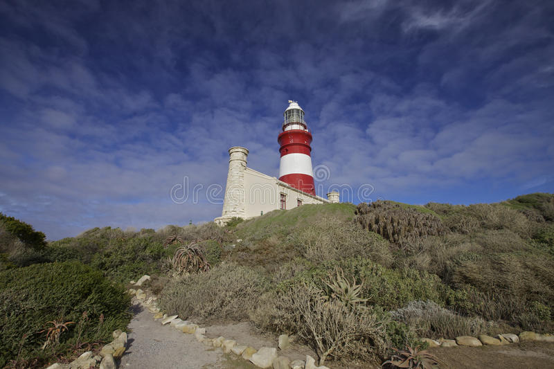 Lighthouse, Cape Agulhas royalty free stock photography