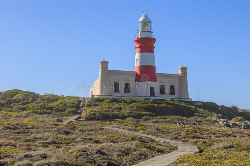 Lighthouse Cape Agulhas stock photos