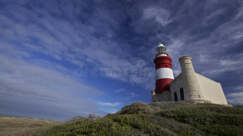 Lighthouse Cape Agulhas in South Africa royalty free stock images