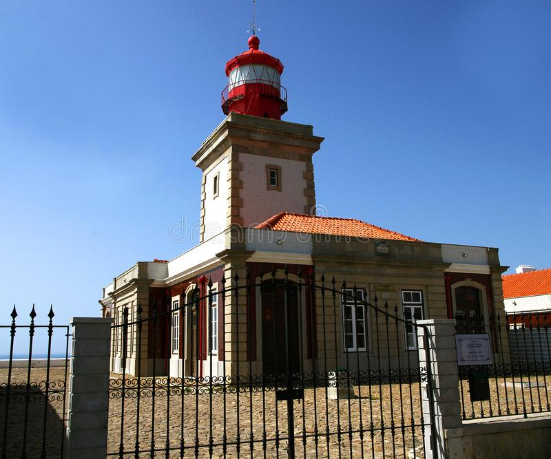 Lighthouse at Cape Cabo da Roca, where Europe ends stock images