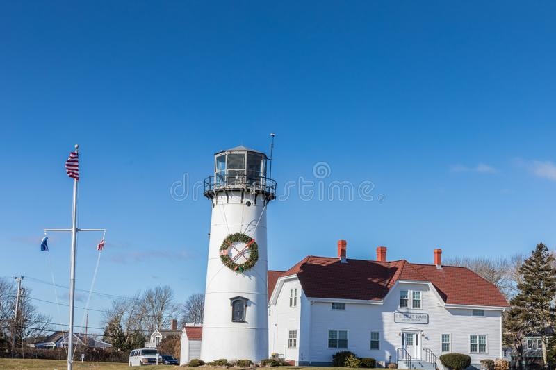 Lighthouse in Cape Cod, Massachusetts. USA royalty free stock photos