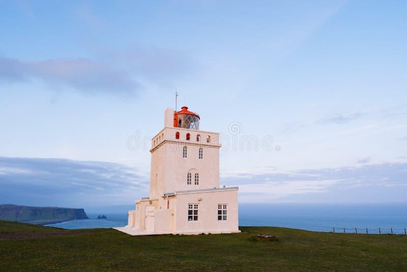Lighthouse at Cape Dyrholaey, Iceland stock image