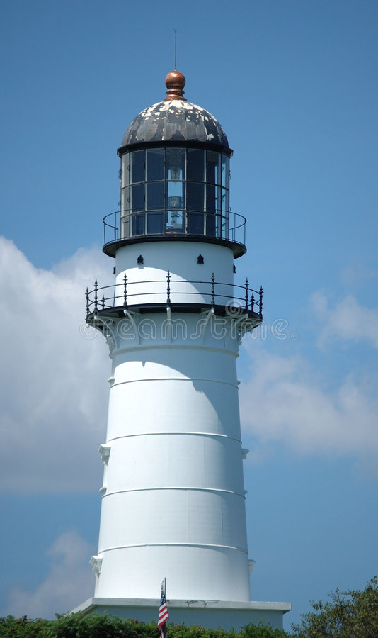 Lighthouse, Cape Elizabeth, ME stock photo