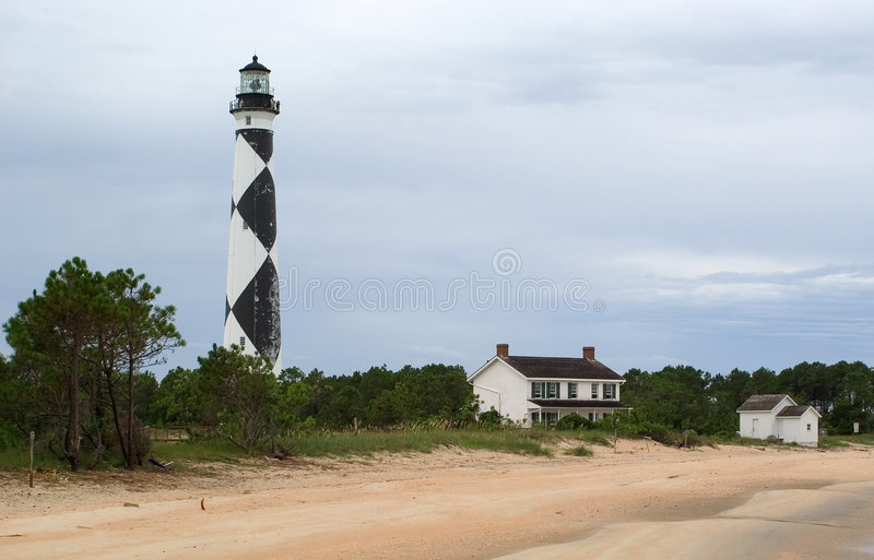 Lighthouse at Cape Lookout royalty free stock images