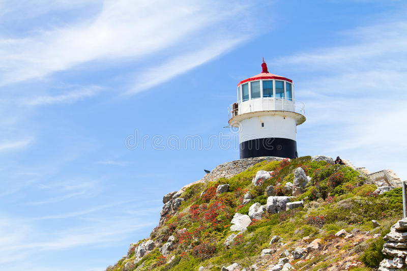 Lighthouse on cape point royalty free stock photo