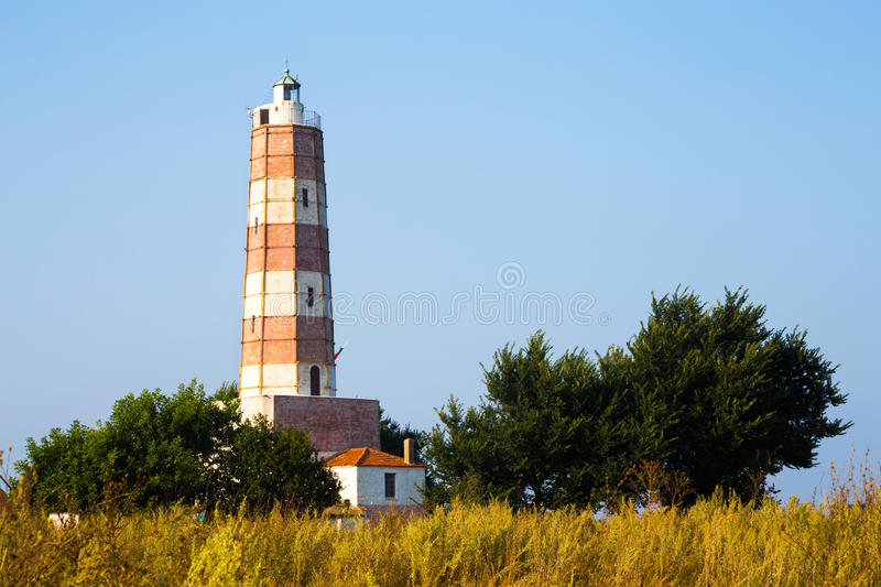 Lighthouse at Cape Shabla on the Black Sea Coast. The lighthouse at Cape Shabla on the Black Sea Coast in Bulgaria, the oldest and highest in Bulgaria built royalty free stock photos