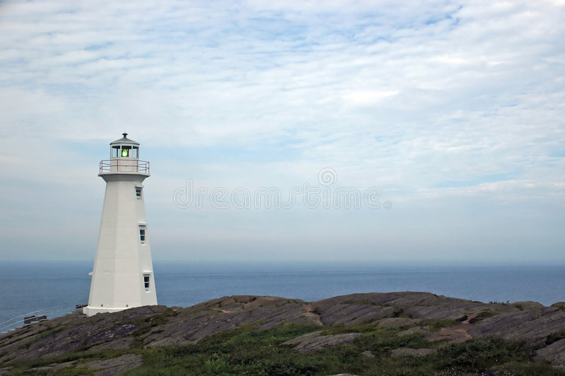 Lighthouse at Cape Spear stock photography