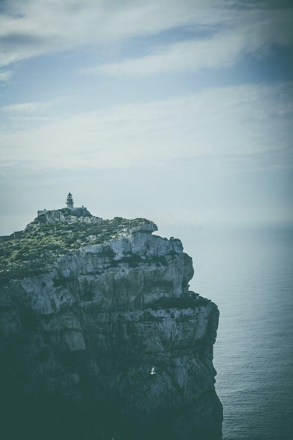 Lighthouse on Capo Caccia stock photo
