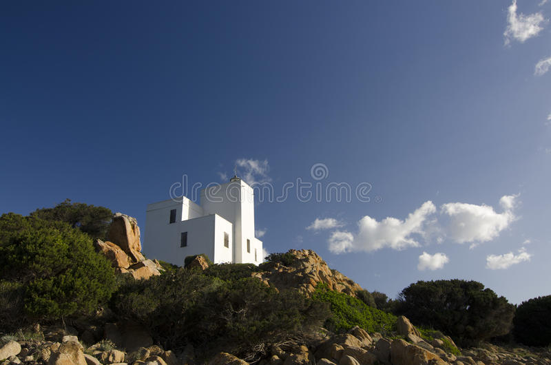 Download Lighthouse of Capo Comino stock photo. Image of tower - 31328808