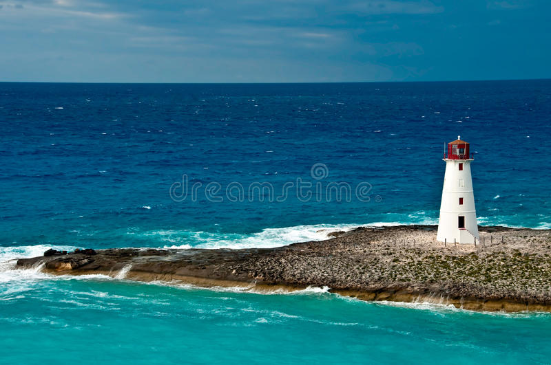 Lighthouse in the Caribbean stock photography