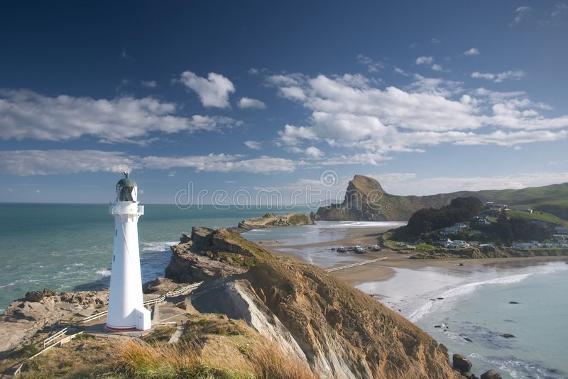 Lighthouse (castle point). The lighthouse at castle point, new zealand north island stock photography