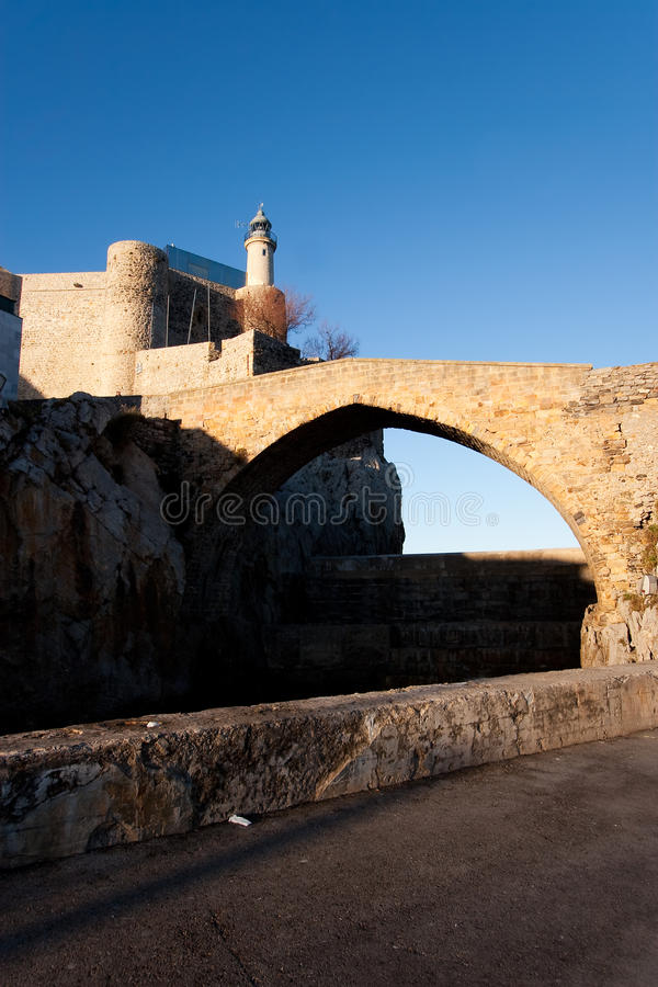 Lighthouse of Castro Urdiales. Cantabria, Spain stock photo