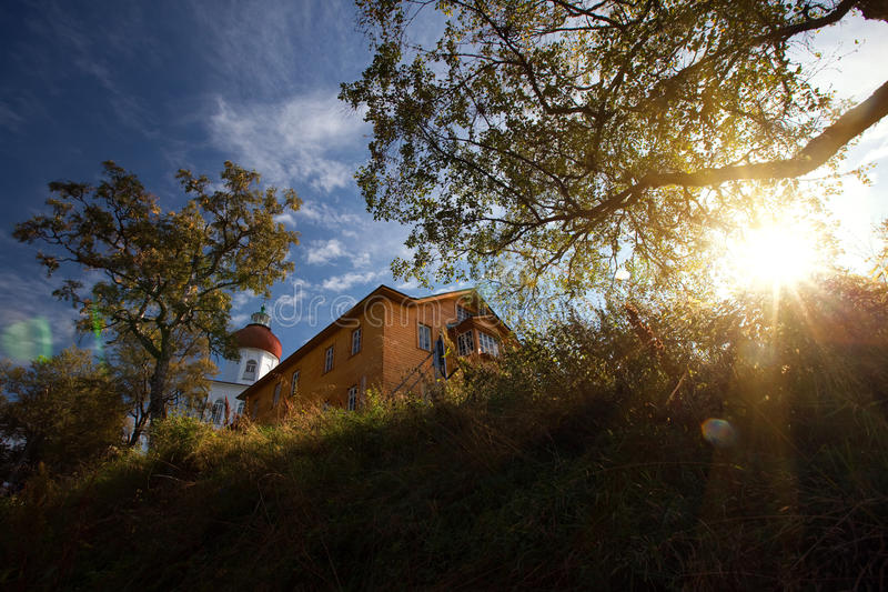 Download Lighthouse Chapel stock image. Image of evening, holy - 11466119