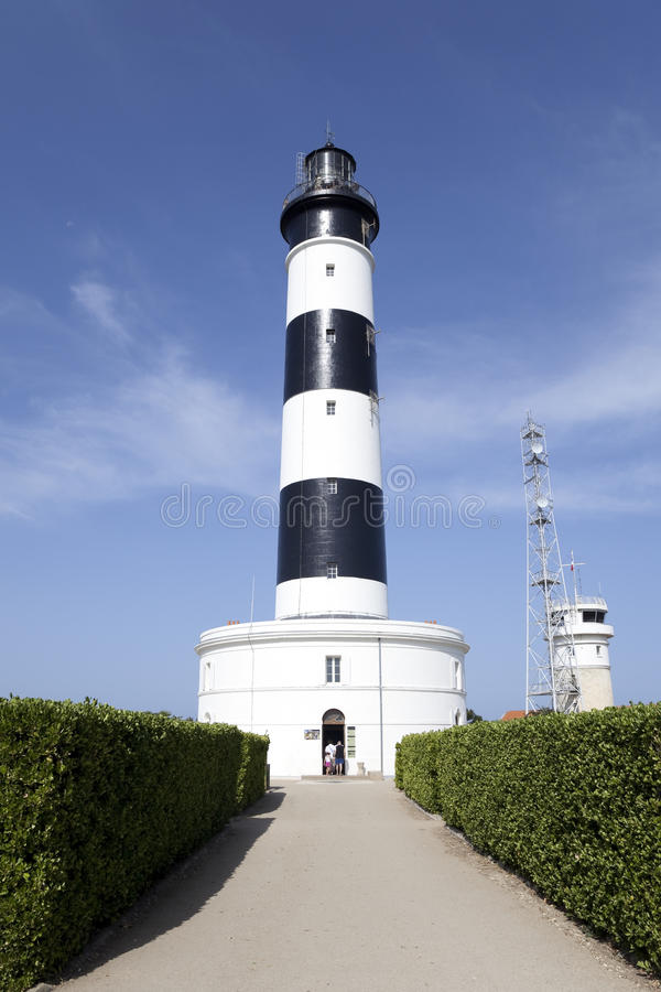 Lighthouse chassiron stock images