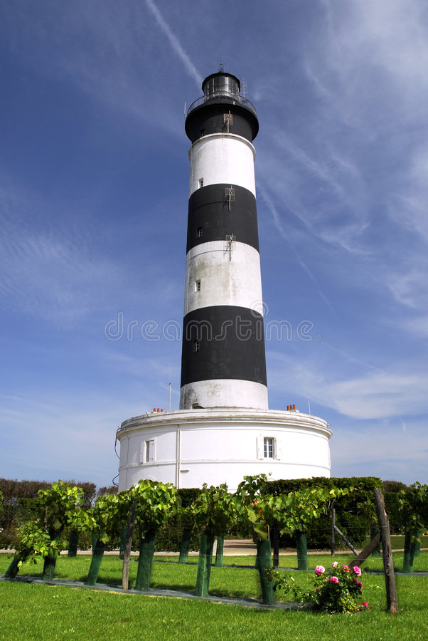 Lighthouse of Chassiron in France stock photo