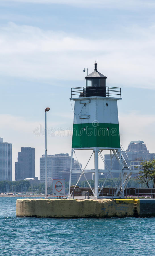Download Lighthouse in Chicago stock image. Image of states, north - 25409607