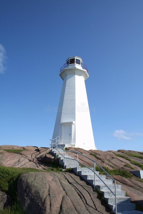 Lighthouse on Cliff stock photo