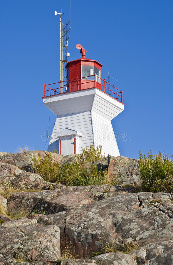Lighthouse On The Cliff Stock Photography